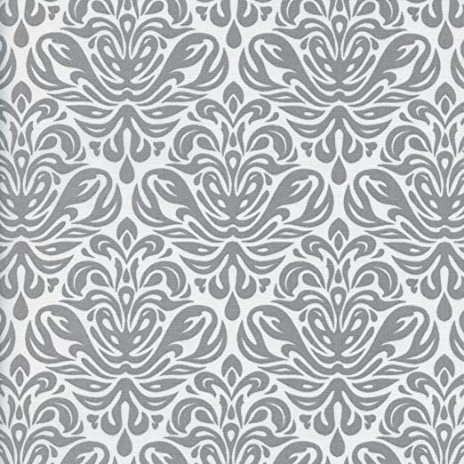 Tela Grandeza gris hierro - sobre un fondo blanco perla - 100 ...