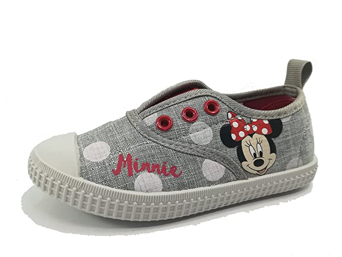 Disney Minnie Maus 2300002888 Mädchen Sneaker, Schuhe, Canvas, Grau