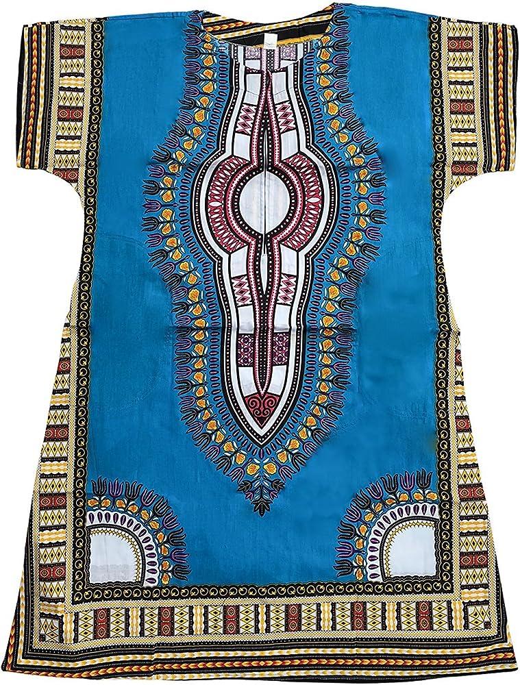 Homes & Deco Clothing Dashiki - Camisa mexicana tradicional africana para hombre, color azul claro: Amazon.es: Ropa y accesorios