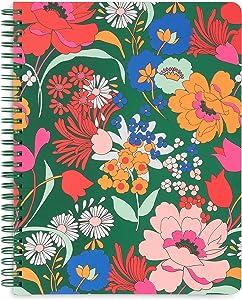 Ban.do Green Floral Rough Draft Mini Spiral Notebook, 9