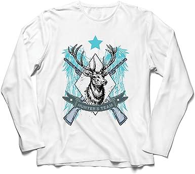lepni.me Camiseta de Manga Larga para Hombre Equipo de escuadrón de Caza de Ciervos, Equipo de Caza, Regalo de Cazador: Amazon.es: Ropa y accesorios