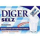 Diger - Selz, Digestivo Effervescente, Gusto Classico Bustine Da 3,5G - 12 Bustine