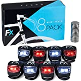 FX FFEXS Bike Lights Front and Back - Bike Lights Set of Four - Bright Bicycle Lights