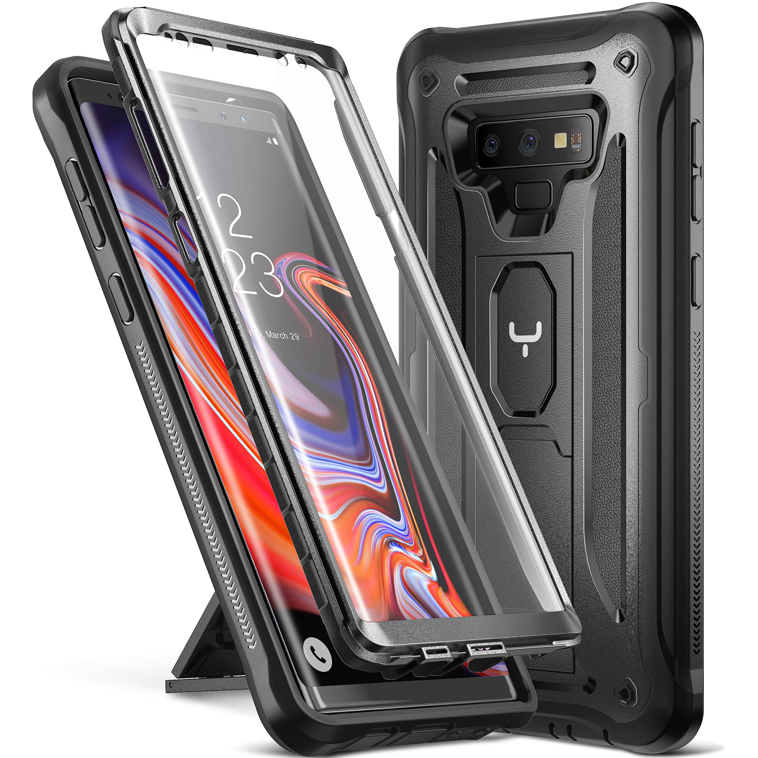 release date: 779c5 73c45 YOUMAKER Kickstand Case for Galaxy Note 9, Full Body with Built-in Screen  Protector Heavy Duty Protection Shockproof Rugged Cover for Samsung Galaxy  ...
