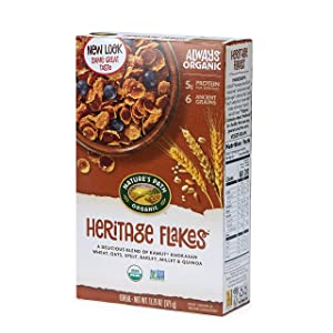 Nature's Path Heritage Flakes Whole Grains Cereal, Healthy, Organic, 13.25 Ounce Box