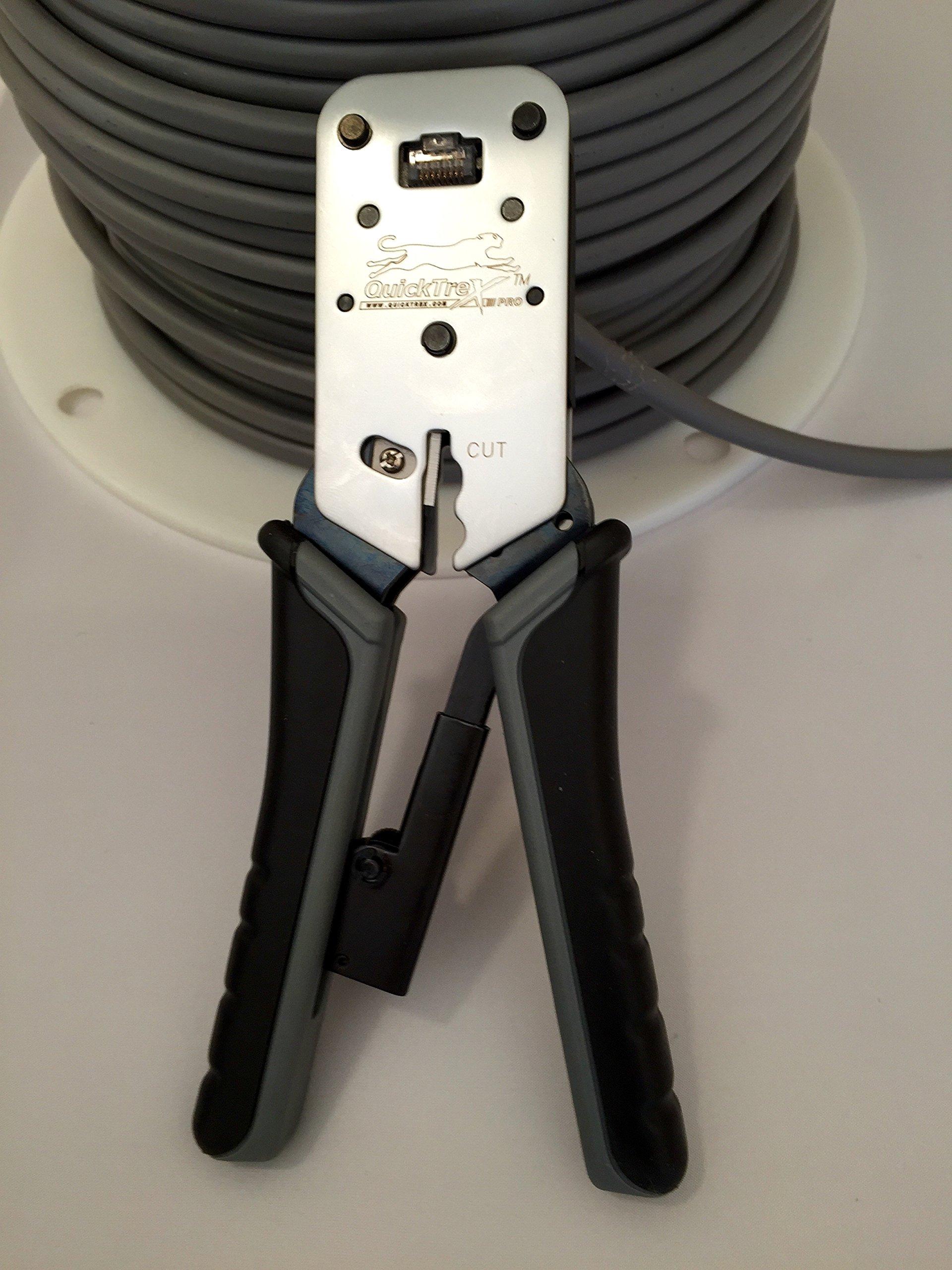 RJ-45 Crimping Tool - ''QuickTreX® Professional ''Wire Surgeon®'' RJ-45 Crimper'' by QuickTreX