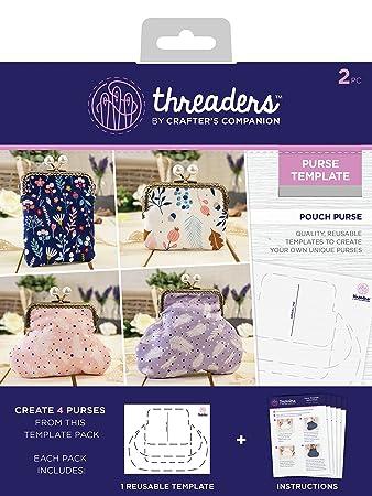 Amazon.com: Threaders Pouch - Plantilla para monedero, 7.5 x ...