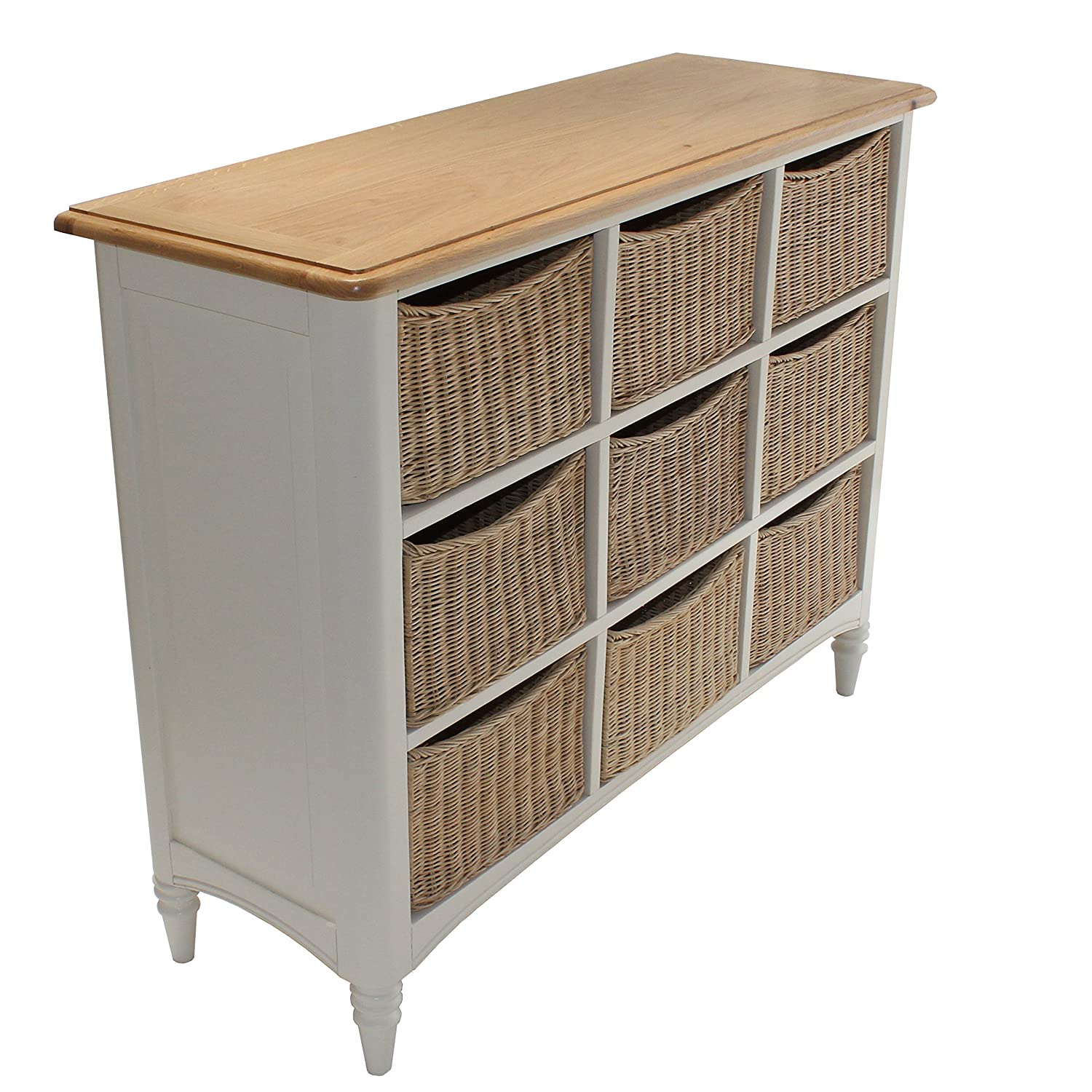 melford multi chest nine drawer storage unit wicker baskets painted oak top storage units with baskets: white storage unit wicker