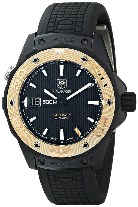 TAG Heuer Men's WAJ2182.FT6015 Aquaracer Analog Display Swiss Automatic Black Watch