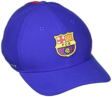 bdc55ced9ea Amazon.com  NIKE FC Barcelona AeroBill Classic 99 Adjustable Hat (Deep  Royal Blue) (OSFM)  Sports   Outdoors