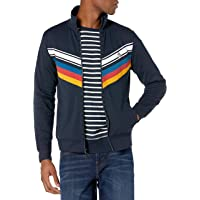 Original Penguin Men's Knit Long Sleeve Chevron Tape Track Jacket