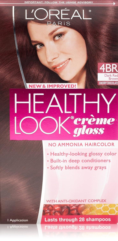 Amazon Loreal Healthy Look Creme Gloss Hair Color 4br Dark