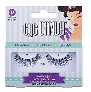 58aa442e573 Eye Candy Strip Lashes 007 Dramatise 50's Look Natural False Lashes:  Amazon.co.uk: Beauty
