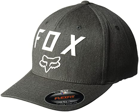 official photos bab83 de38c Fox Racing Men s Number 2 Flexfit Hat HTR Graphite Gray SM