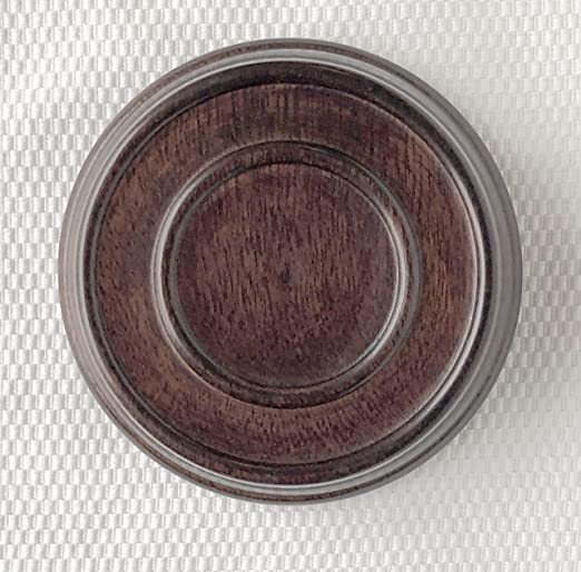 "3.5"" Brown Chinese Oriental Solid Wooden Lid Cap Cover for Ginger Jar and Vases"