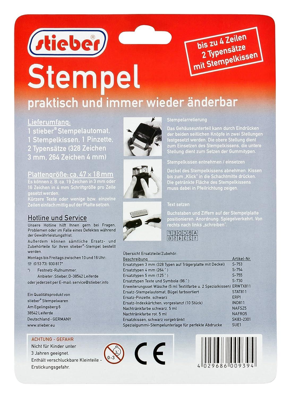 Turbo Selbstsetz-Stempel, 18x47 mm für bis zu 4 Textzeilen in 2 FO86