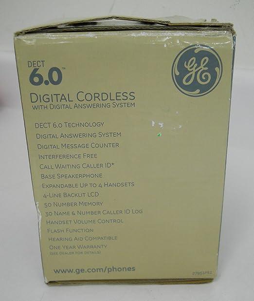 General Electric 27951 FE1 DECT 6.0 Digital sistema de teléfono inalámbrico con contestador automático: Amazon.es: Electrónica