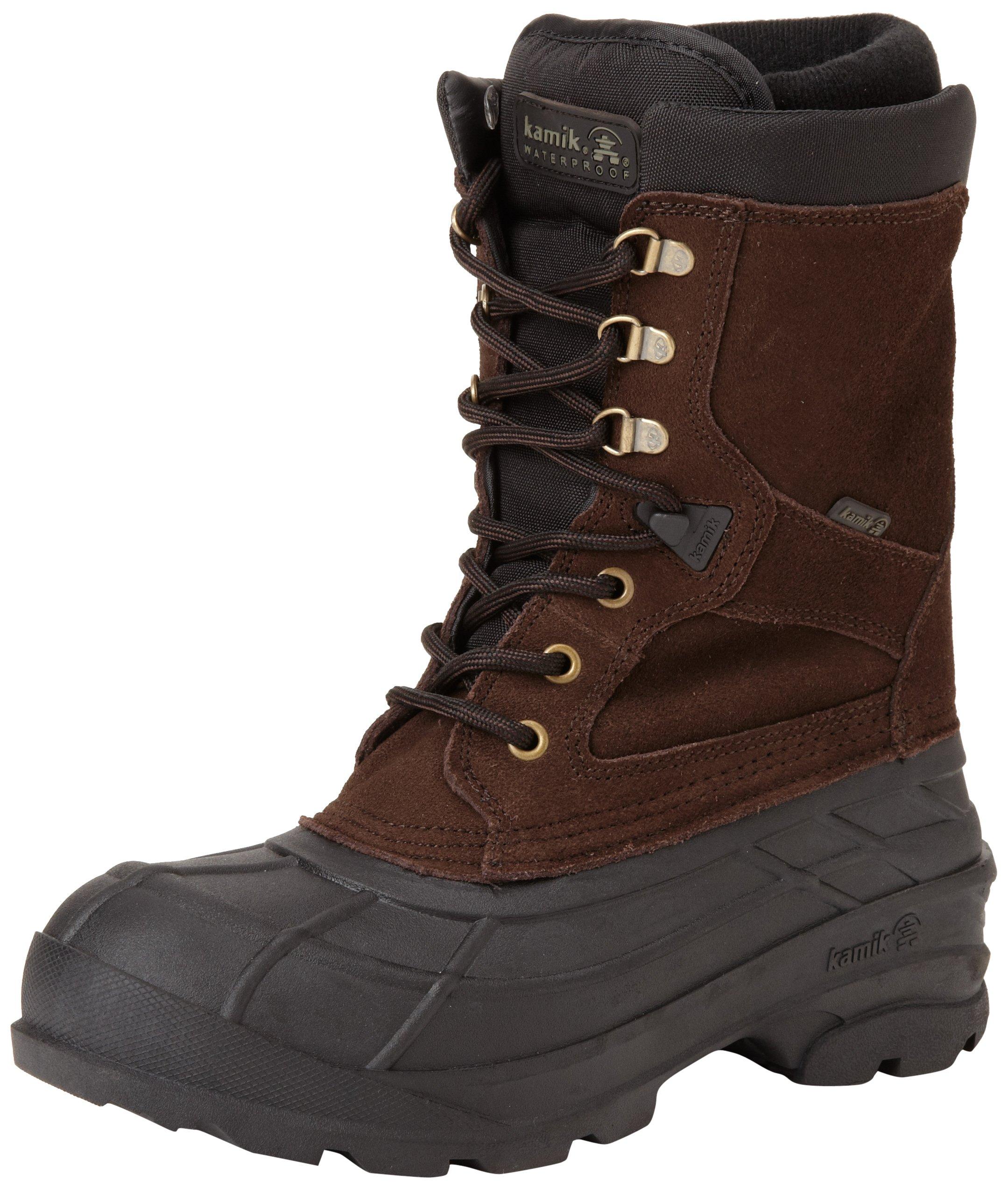 Kamik Men's Nationplus Snow Boot,Dark Brown,10 M US by Kamik