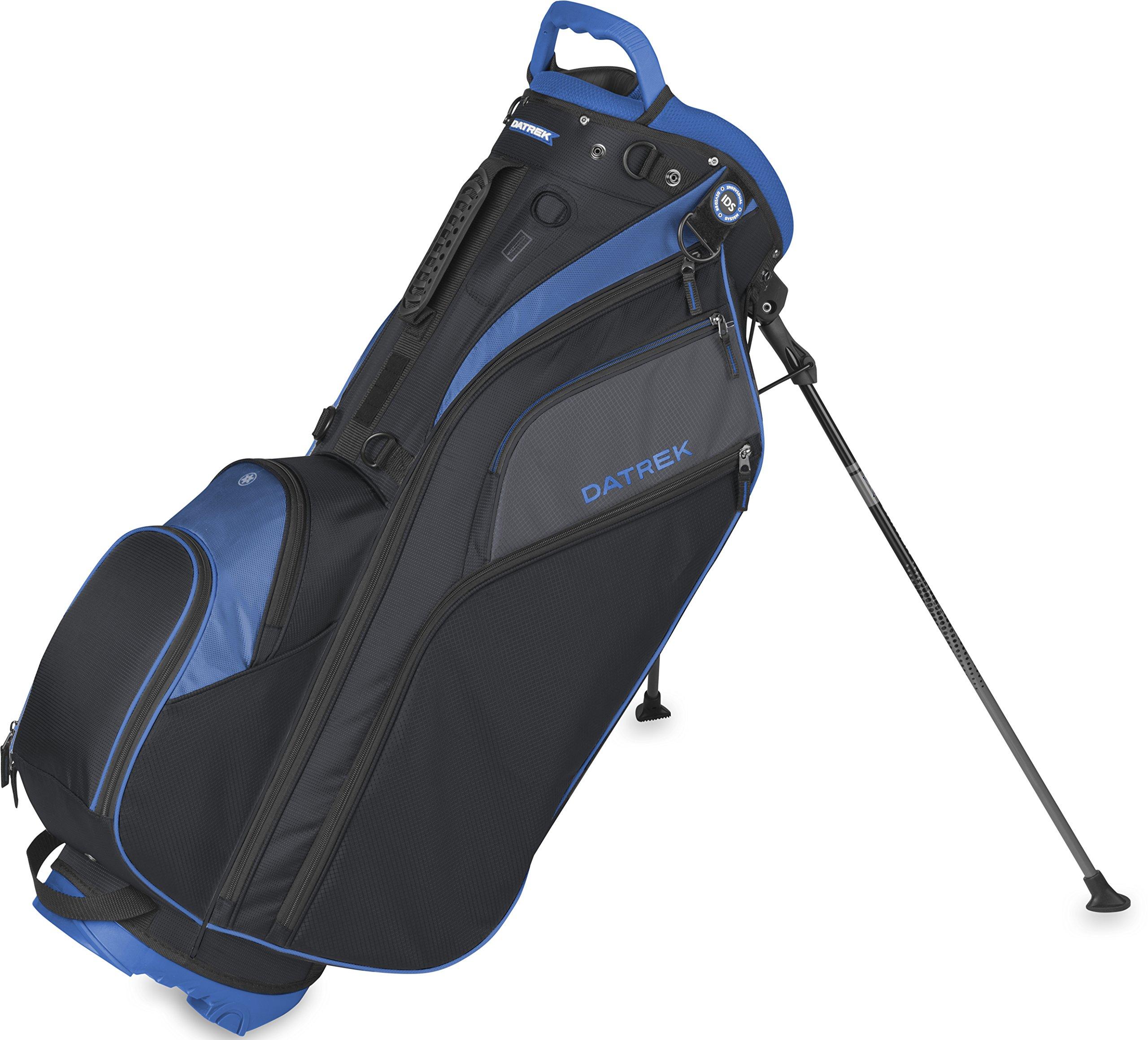 Datrek Golf Go Lite Hybrid Stand Bag (Black/Slate/Royal) by Datrek