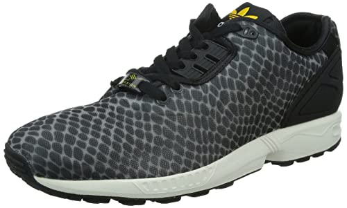 cheap for discount ddda6 5232b Adidas Originals ZX Flux Decon Trainers in Black & Collegiate Gold Print  B23724