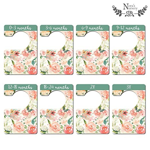Amazon.com: org108 – Floral Closet divisores: Baby