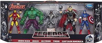 Marvel Legends Infinite Series Avengers 5 unidades: Amazon.es ...