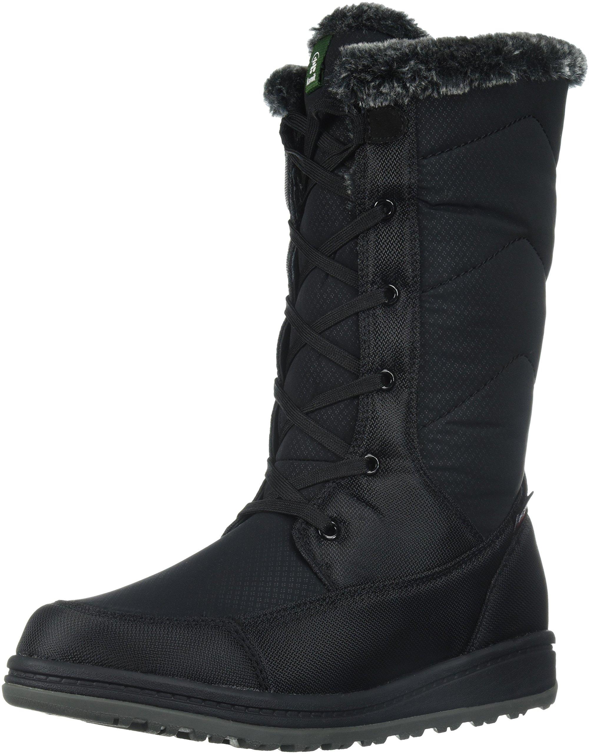 Kamik Women's Quincy Snow Boot, Black, 6 D US