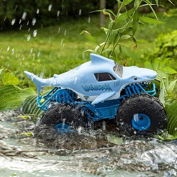 Monster Jam Megalodon Storm All-Terrain Remote Control Monster Truck toy for kids