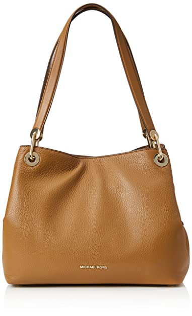Amazon.com  Michael Kors Raven Large Leather Shoulder Bag - Acorn  Shoes 94f1aeca09035
