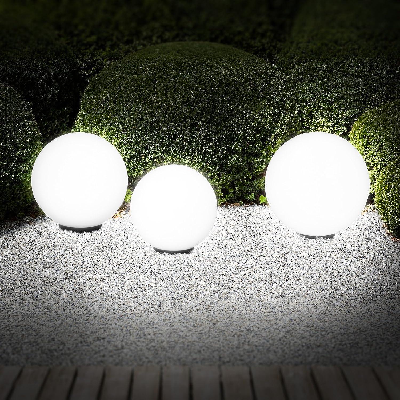Jago Set de 3 Lampes Boules Lumineuses d Extérieur 30 35 et 40