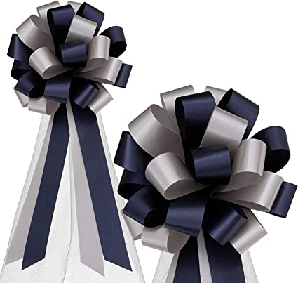Wedding Car Gift Wrap Party Poly Floristry Bow Royal Blue 50mm LARGE PULL BOW