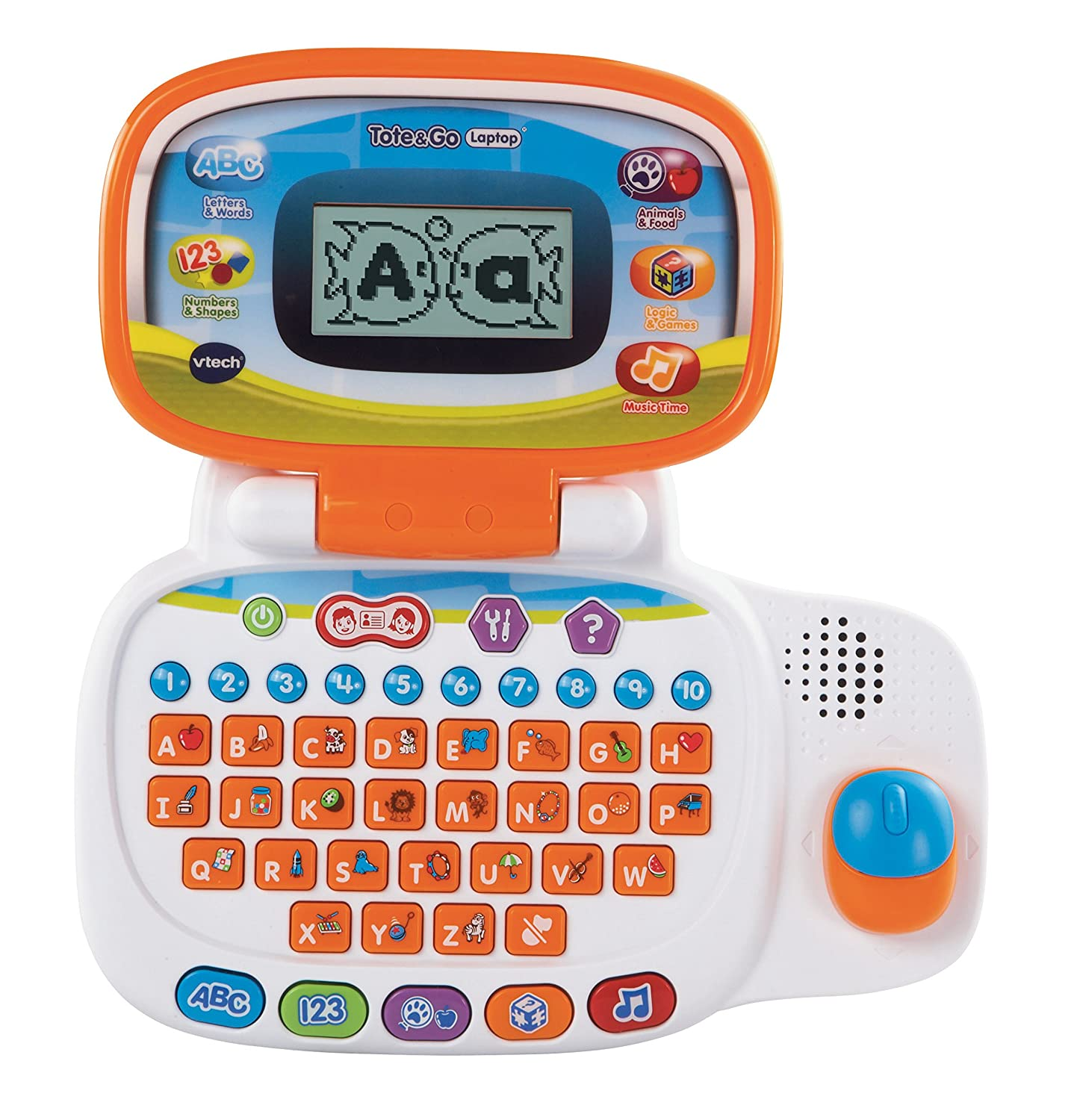 Amazon VTech Tote and Go Laptop Orange Toys & Games