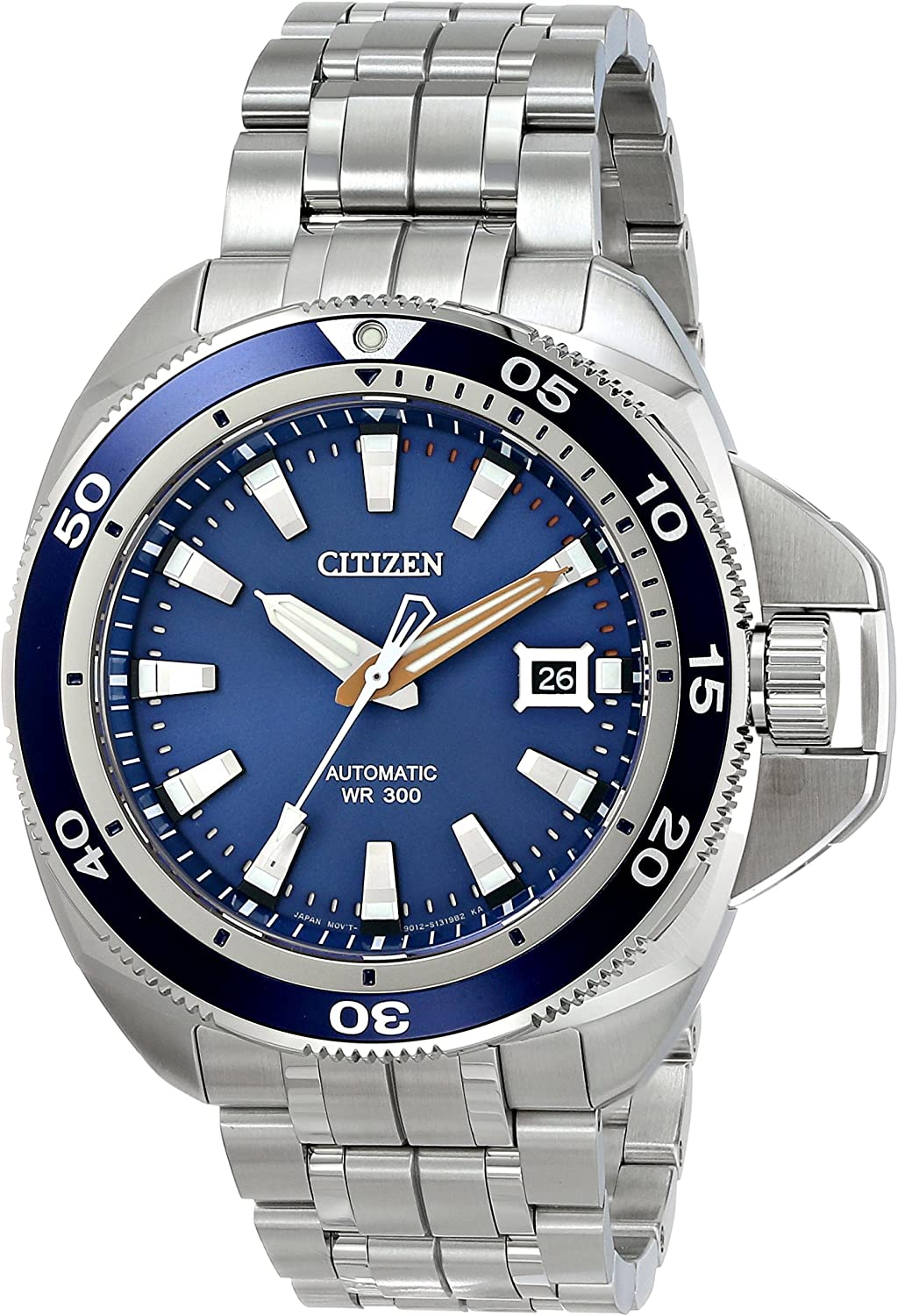 Citizen Men s NB1031-53L Grand Touring Analog Display Automatic Self Wind Silver Watch