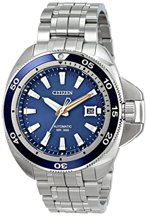 59684ac161d Image Unavailable. Image not available for. Color  Citizen Men s NB1031-53L  Grand Touring Analog Display Automatic Self Wind Silver Watch