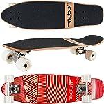 Skateboard cruiser rouge