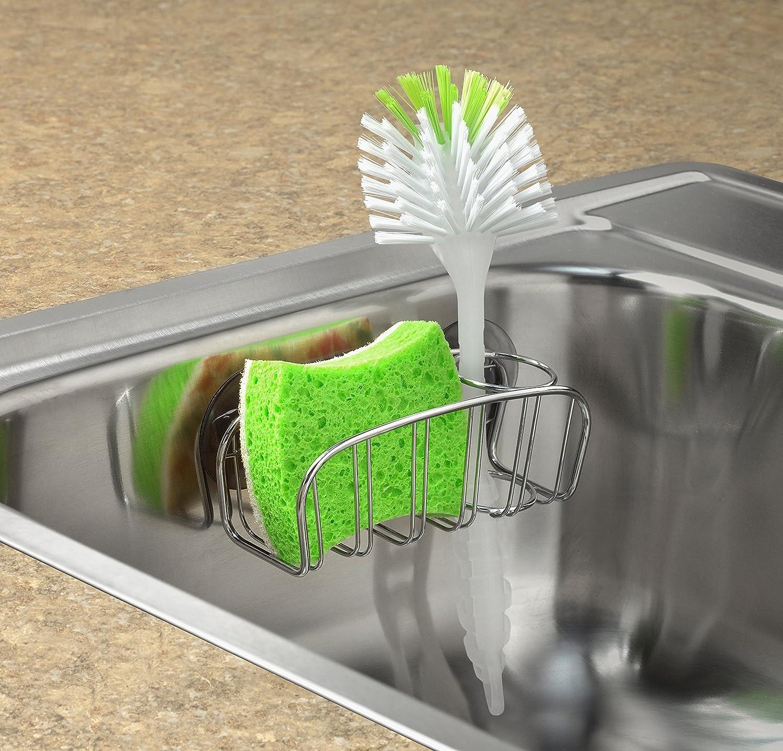 Amazon.com: Spectrum Diversified Contempo Sponge And Brush Holder, Chrome:  Home U0026 Kitchen