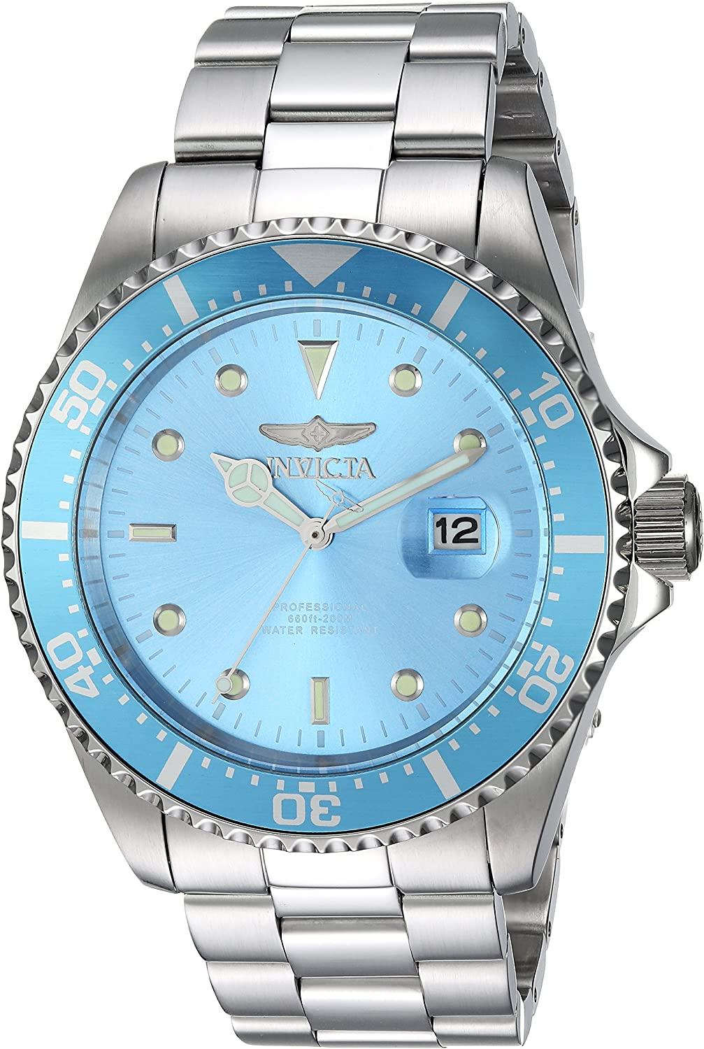 Invicta Men s Pro Diver Quartz Diving Watch with Stainless-Steel Strap, Silver, 14 Model 22051