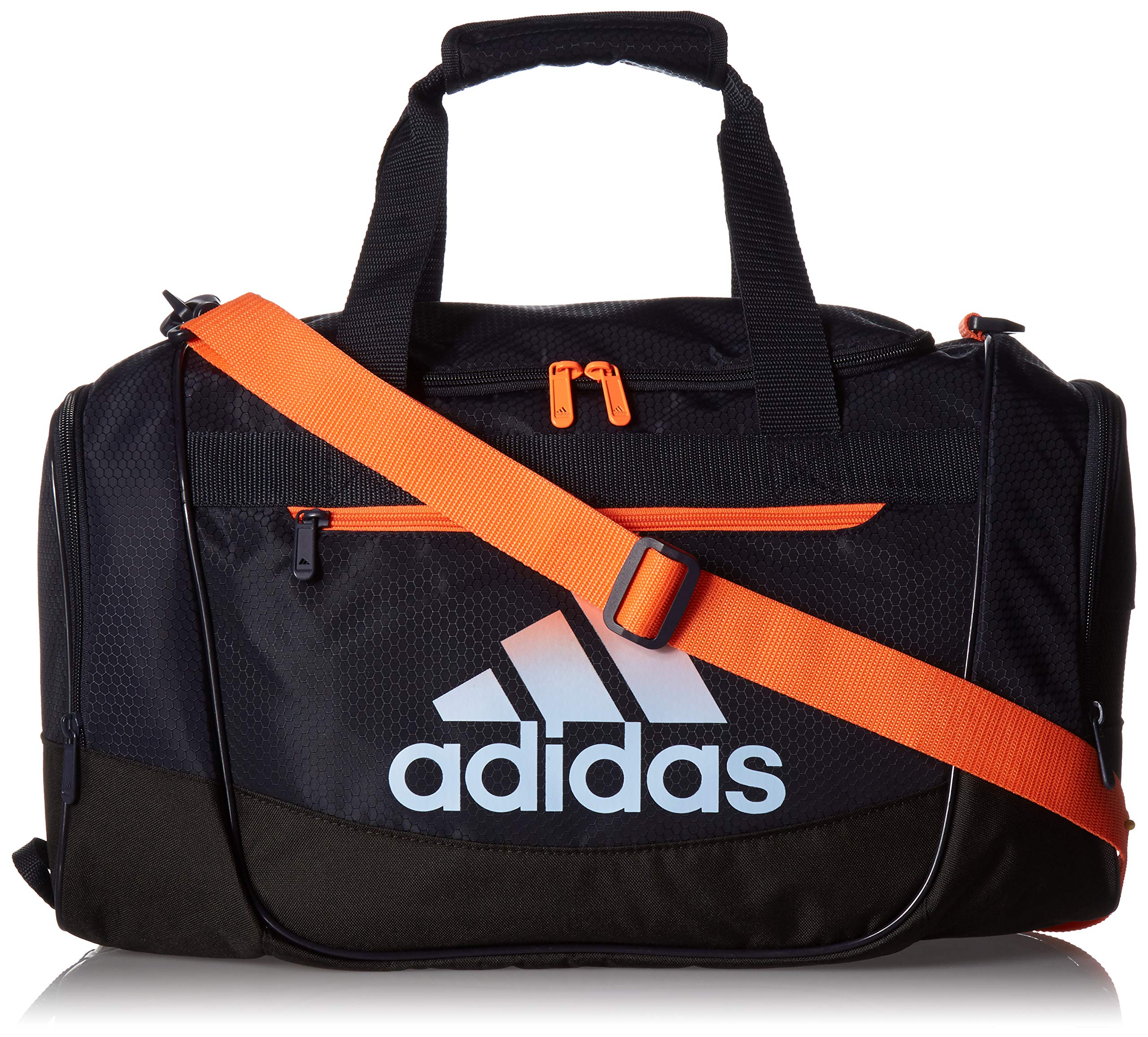 adidas Defender Iii Small Duffel, Legend Ink Blue/Hi-Res Coral/Glow Blue, One Size
