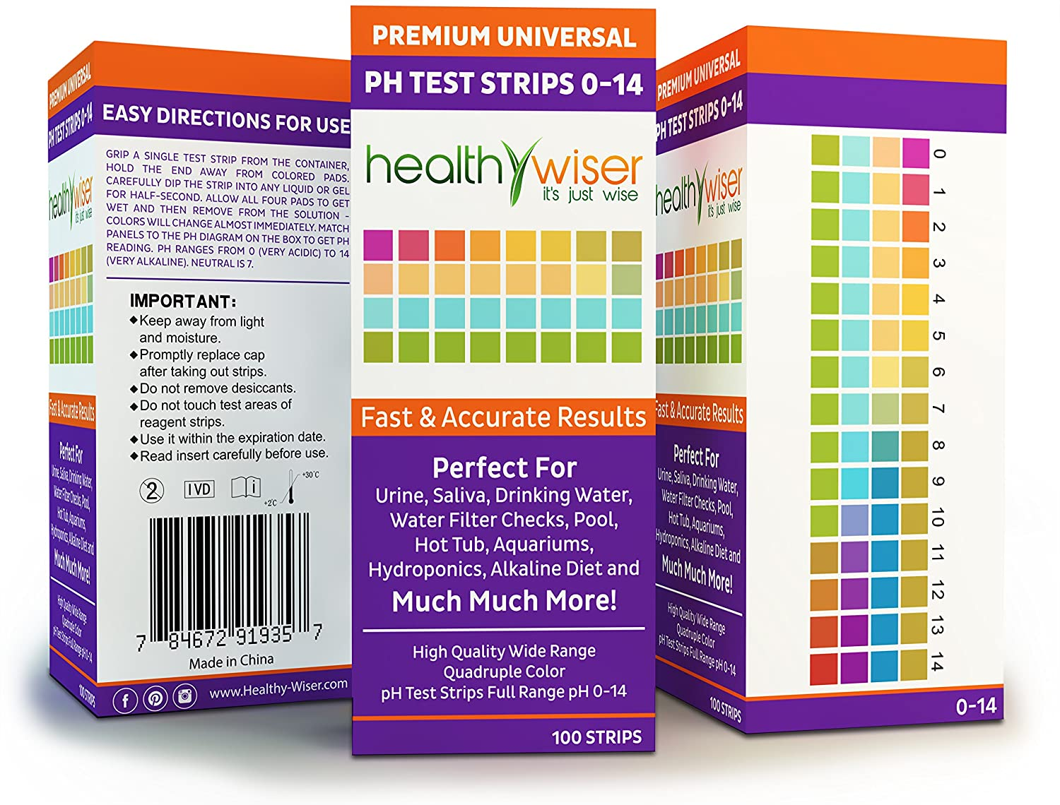 Amazon ph test strips 0 14 universal strips to test water amazon ph test strips 0 14 universal strips to test water quality for swimming pools hot tub hydroponics aquarium kombucha household drinking nvjuhfo Images