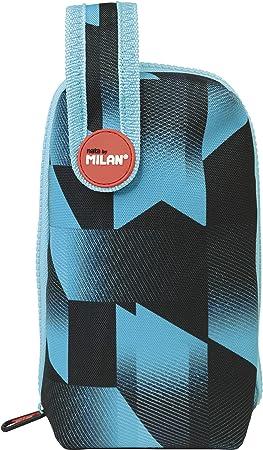 MILAN Kit Un Estuche con Contenido Fusion Estuches, 19 cm, Azul: Amazon.es: Equipaje