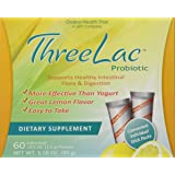 Global Health Trax ThreeLac Probiotic Lemon -- 120 Packets 2 boxes