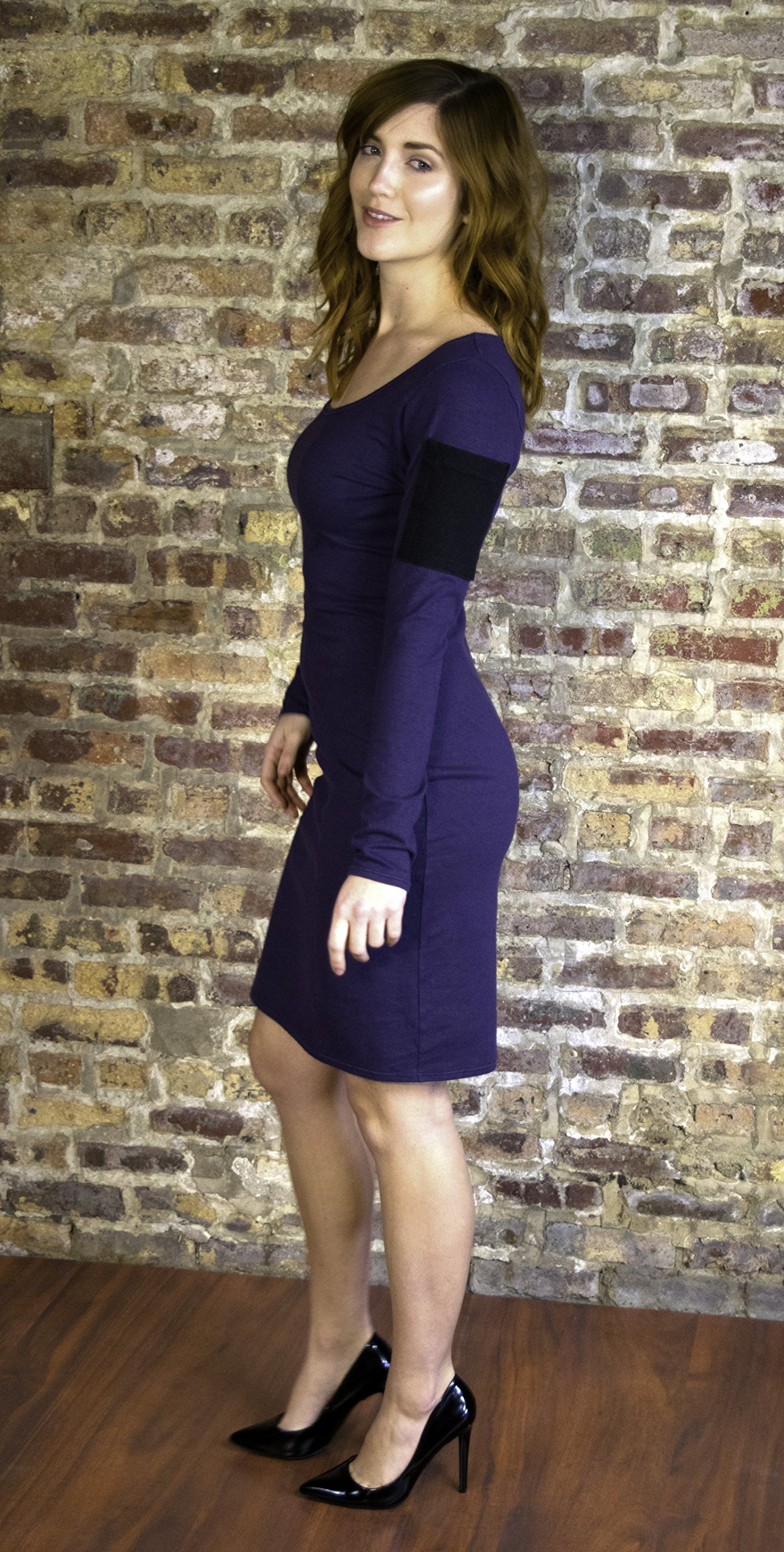 Dress with Long Sleeves & Pocket - Hemp & Organic Stretch Jersey