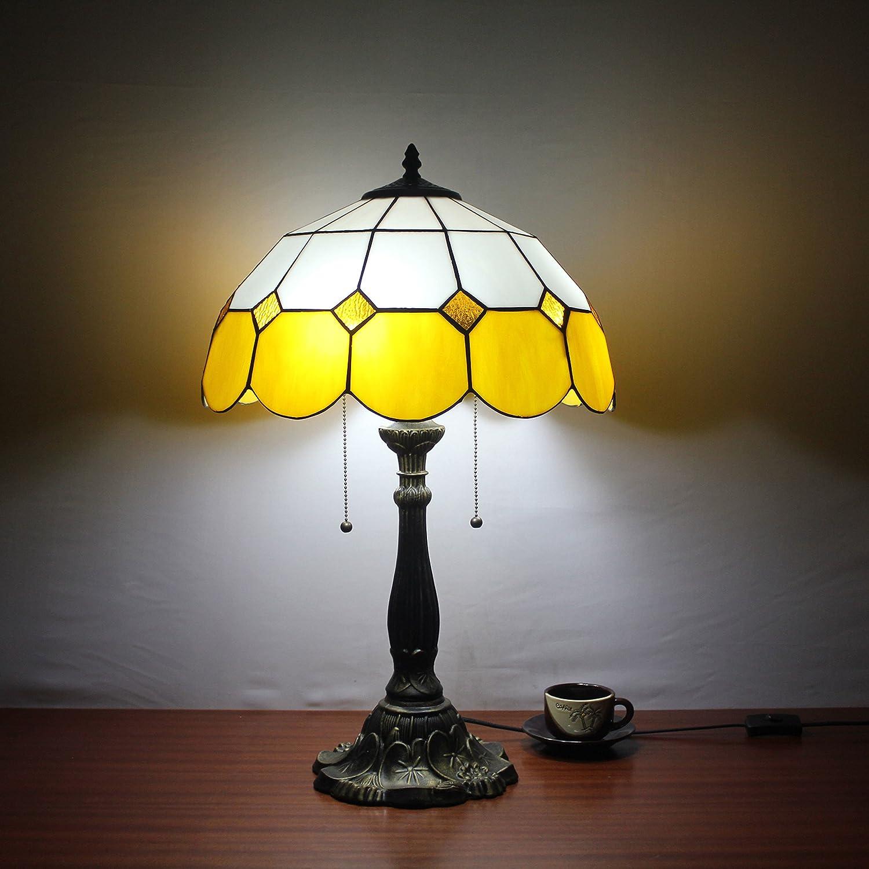 Europea Tiffany Lámpara de mesa de 16 pulgadas amarillo ...