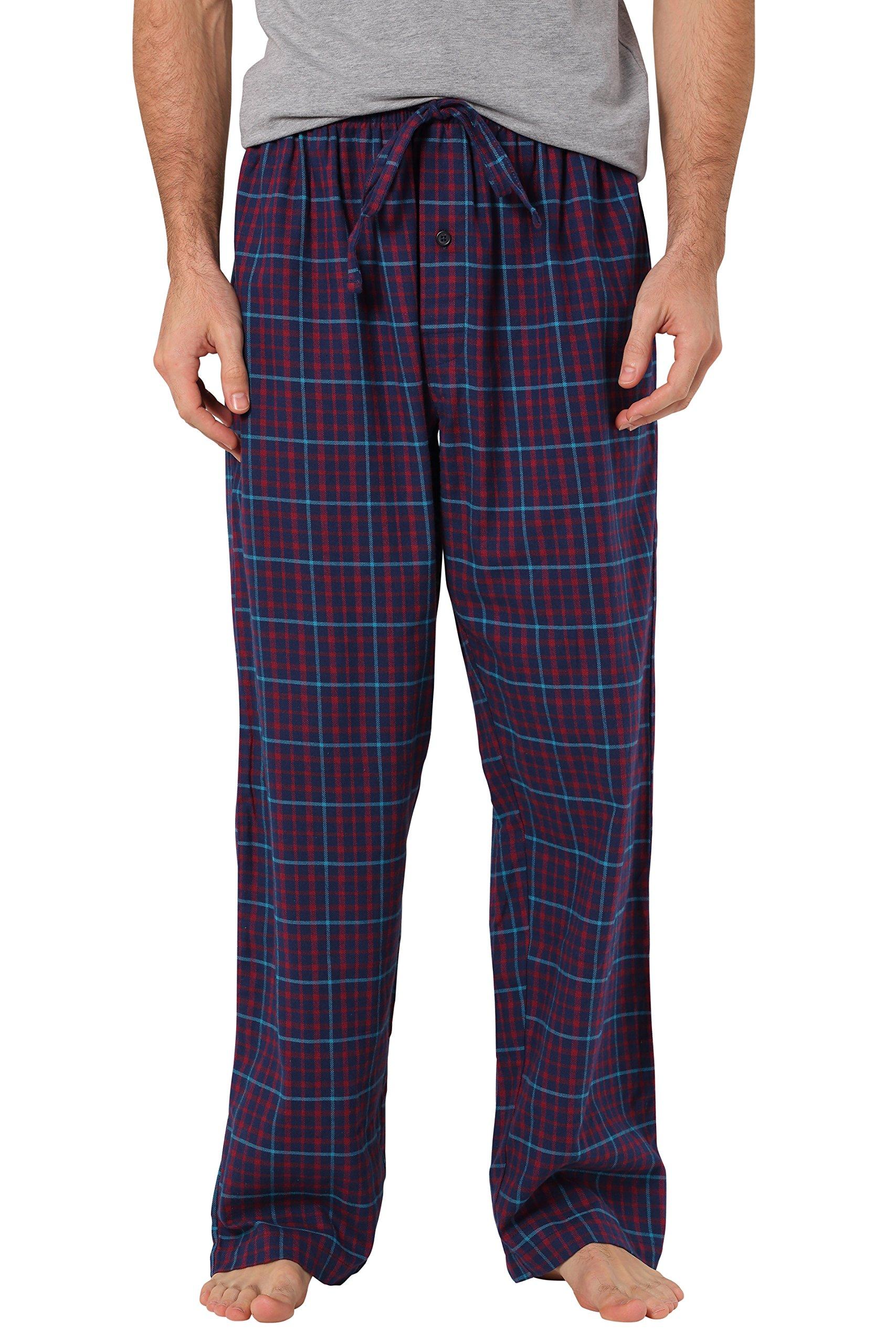 CYZ Men's 100% Cotton Super Soft Flannel Plaid Pajama Pants-F17013-L