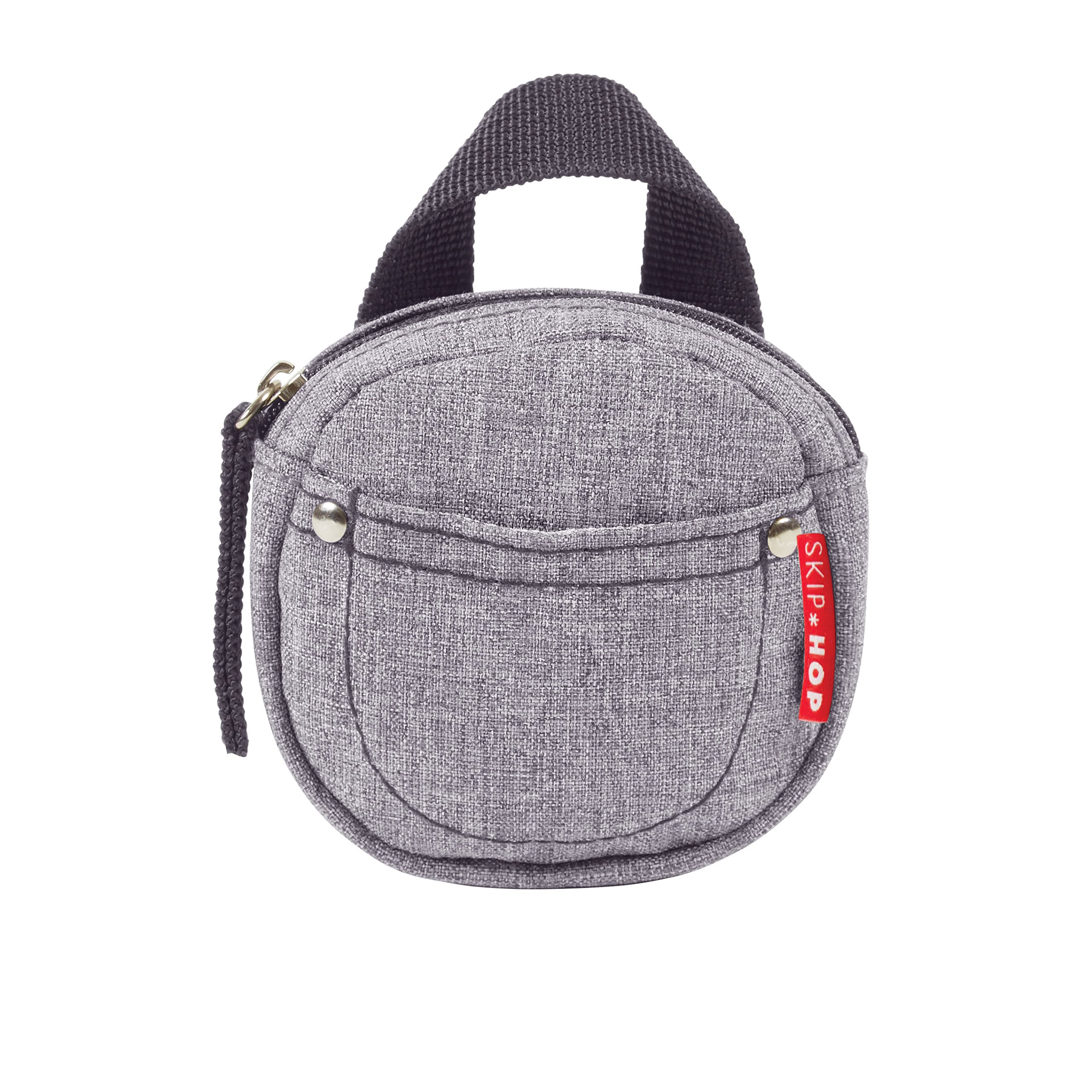 Skip Hop Grab-and-Go Pacifier Pocket, Heather Grey
