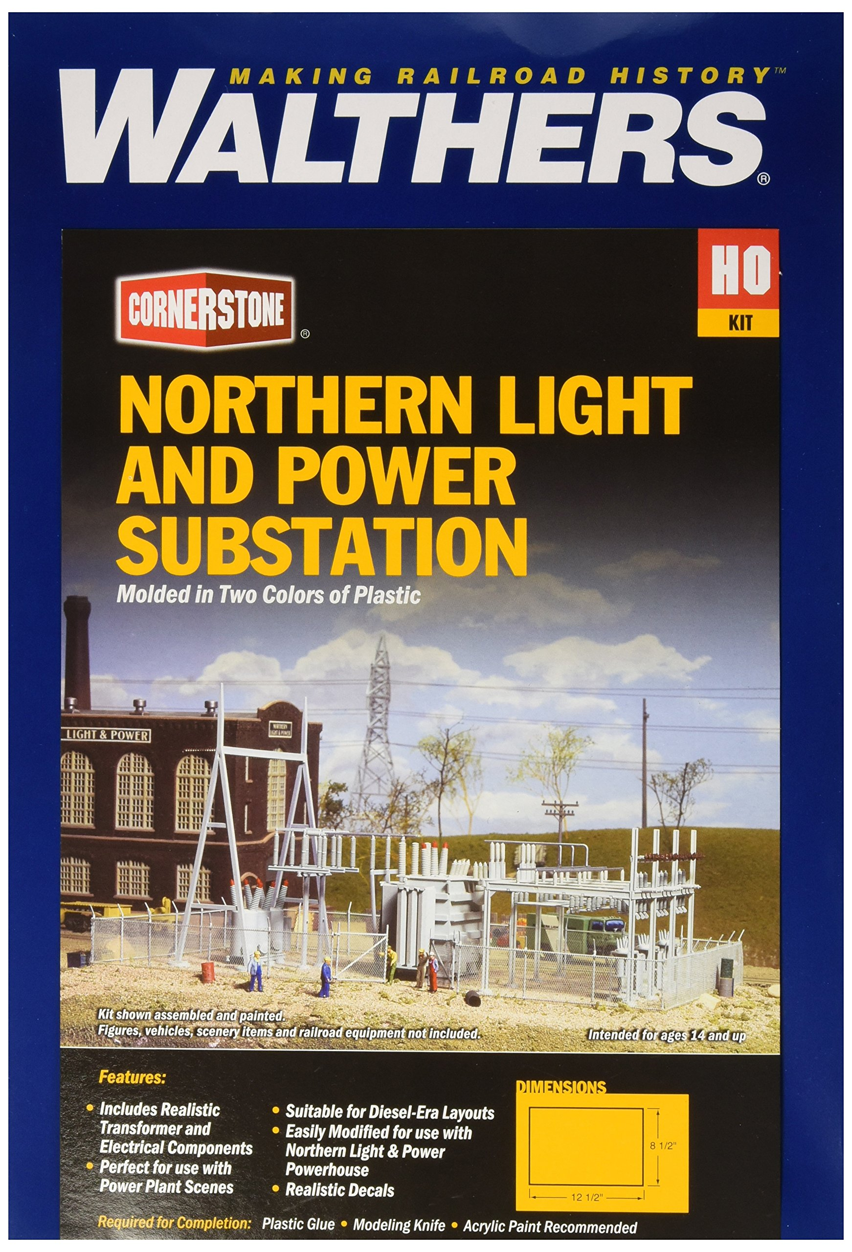Walthers Cornerstone Series Kit HO Scale Northern Light & Power Substation & Accessories