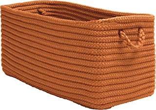 """product image for Colonial Mills Modern Farmhouse Home Basket, 16""""x8""""x10"""", Pumpkin"""