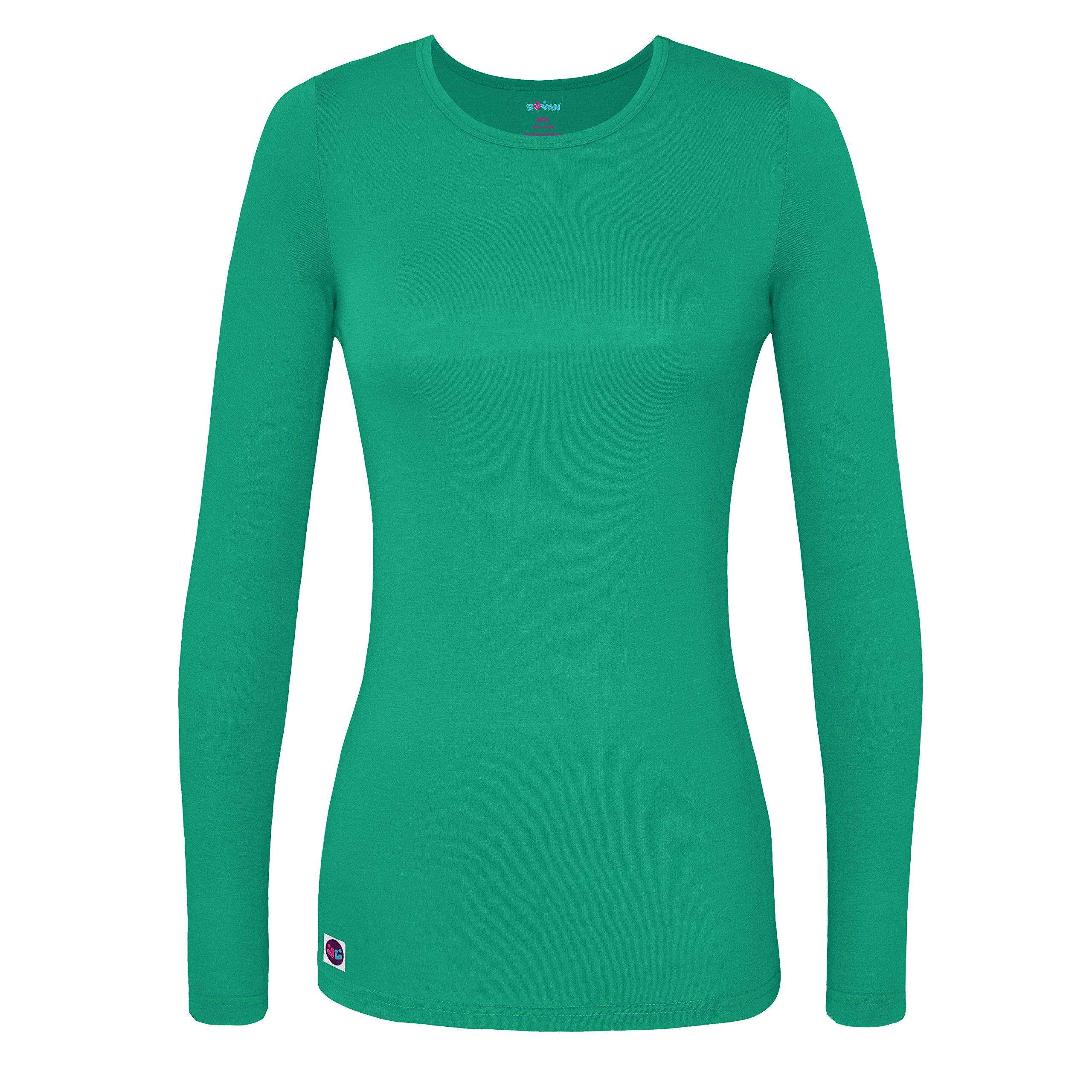 Sivvan Women's Comfort Long Sleeve T-Shirt/Underscrub Tee - S8500 - SMT - 2X