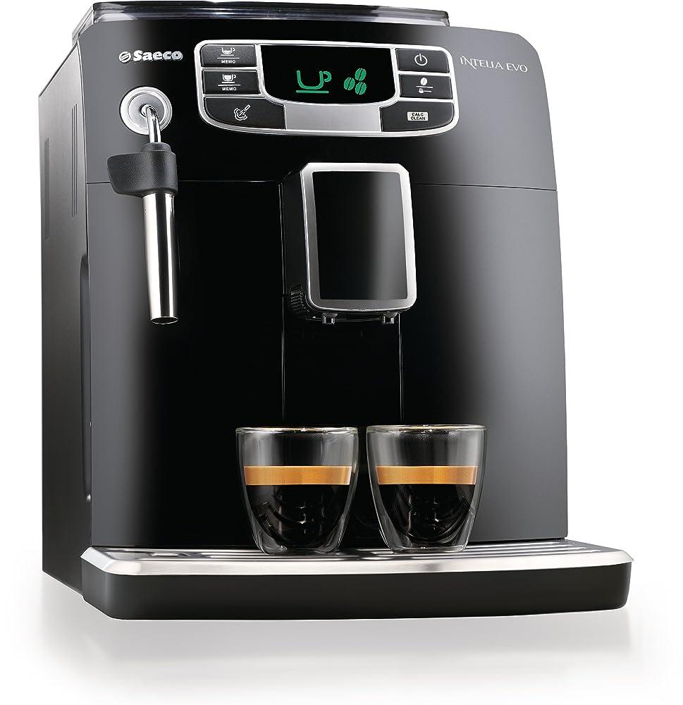 Saeco HD8751/95 Intelia Evo Black, macchina per il caffè espresso da 1850 W