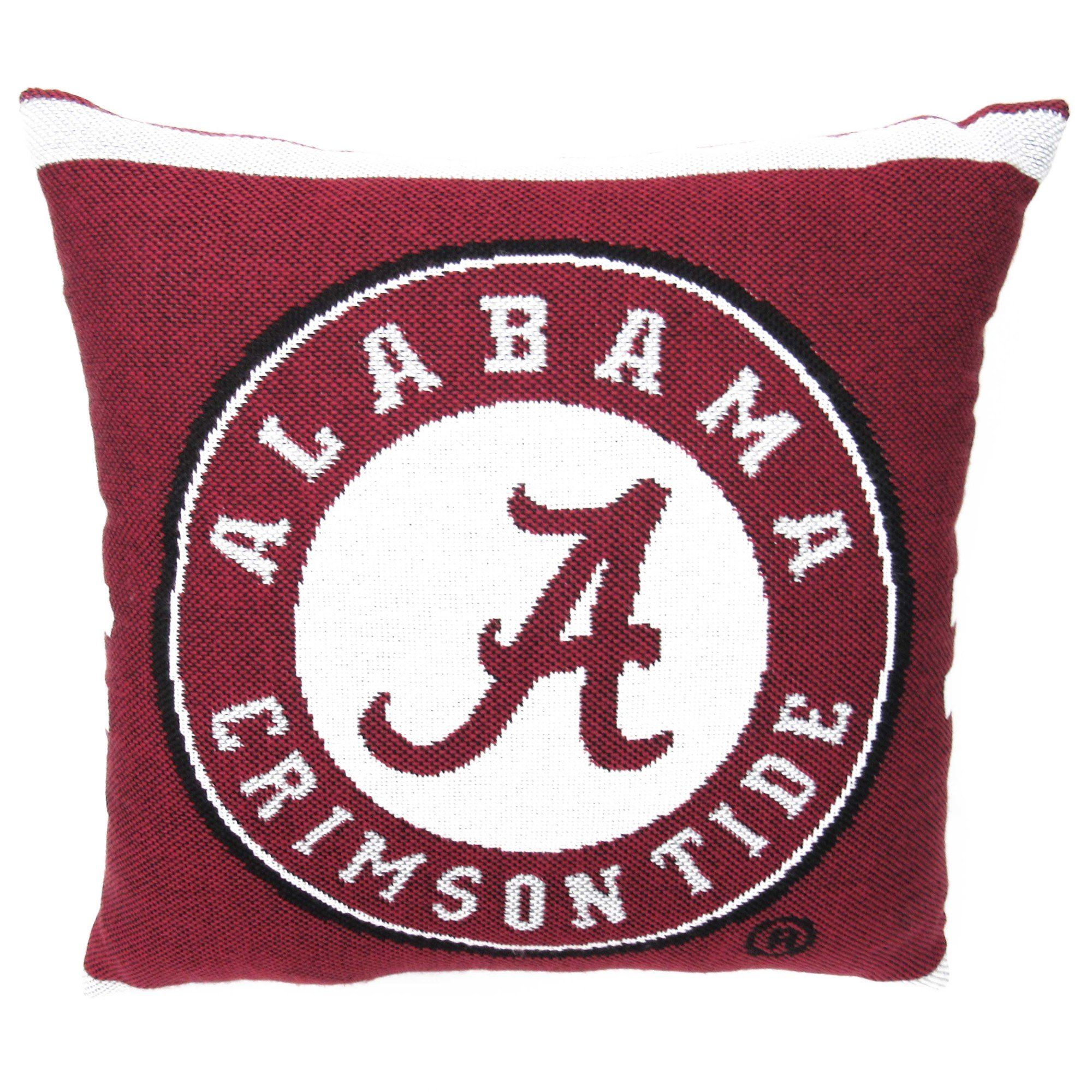 The Northwest Co. NCAA University Woven Decorative Pillow, 20'' Square, Alabama